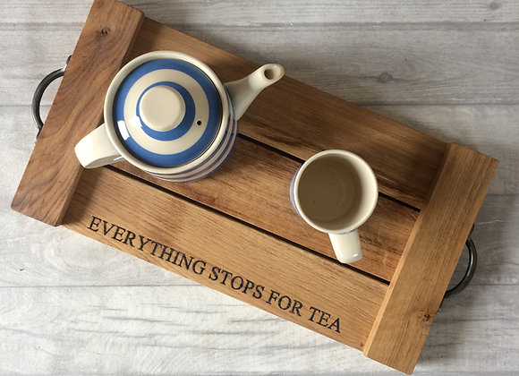 Rustic Oak Serving Tray