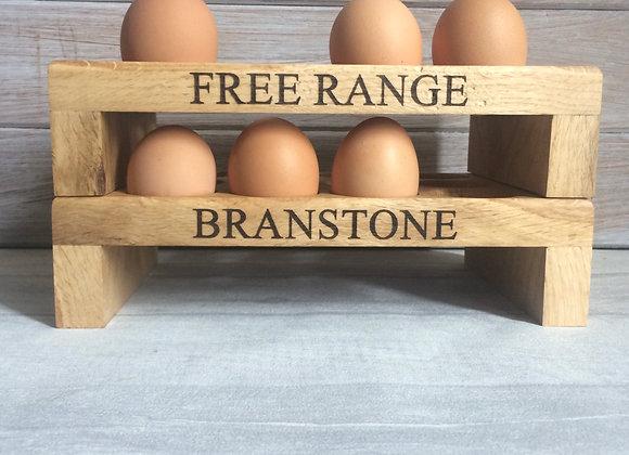 Personalised Oak Egg Rack