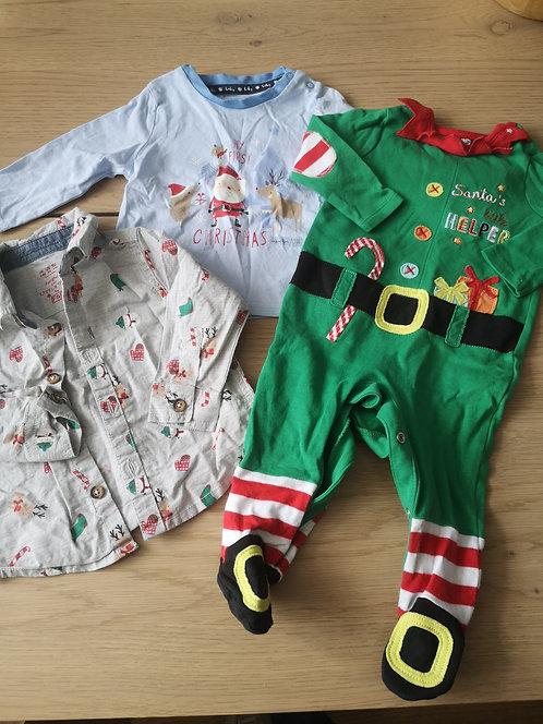 0-3 boys Christmas Bundle