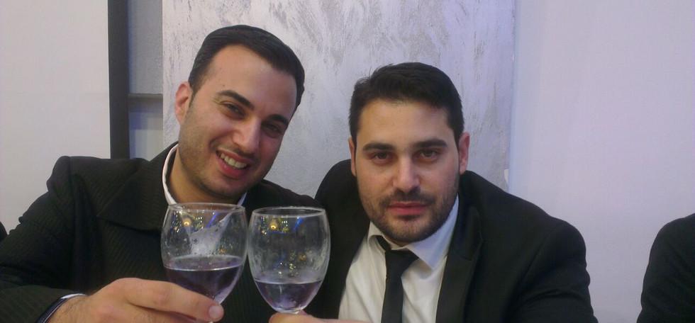 משה מרצ'לו והזמר גד אלבז