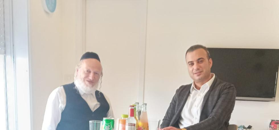 משה מרצ'לו ויהודה משי זהב יושב ראש ארגון
