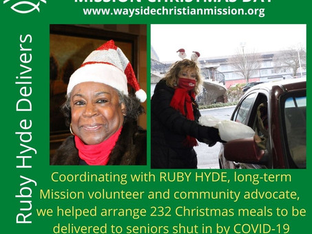 CHRISTMAS 2020 AT THE MISSION  Delivering Meals to Senior Shut In by COVID-19