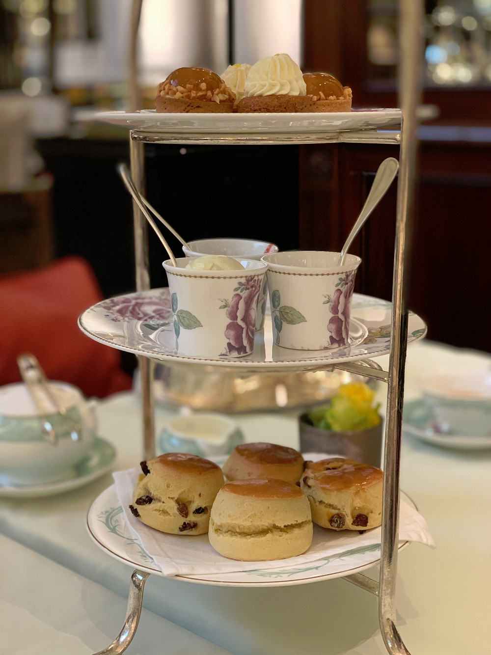 High tea at the Savoy in London
