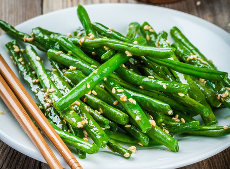 Celebrate Eat More Fruits and Veggies Day with Sesame Green Beans