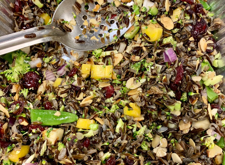 Summer Picnicking in the North Land with Wild Rice Salad