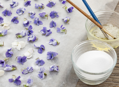 Take the Cake with Crystallized Edible Flowers