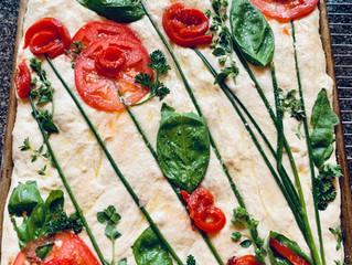 Easy Focaccia Gardenscape Bread Art Amazes and Delights