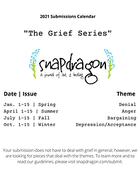 Submissions for 2021 The Grief Series Da