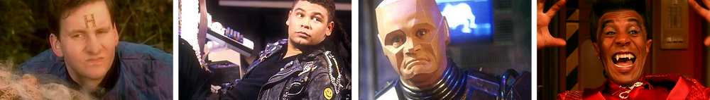 Main cast of sitcom Red Dwarf (from series 3 onwards)