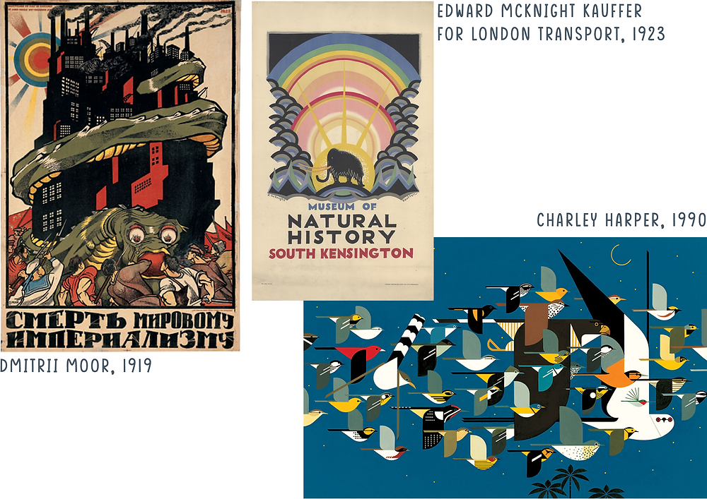 Posters which influenced this project's aesthetics
