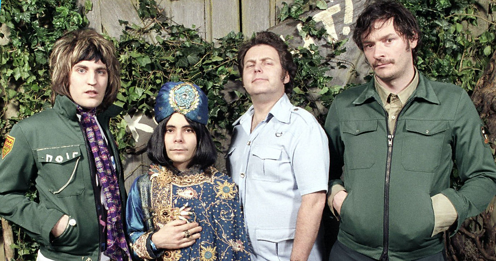 Photo of main cast from sitcom The Mighty Boosh