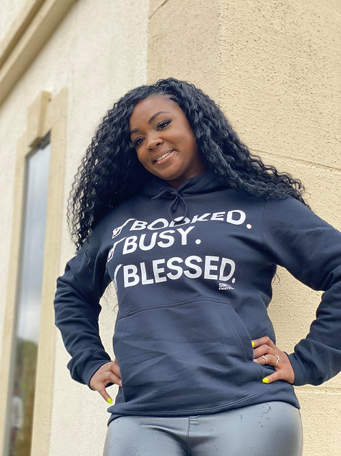 Booked Busy Blessed Hoodie