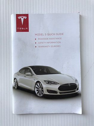 Tesla Model S Quick Guide Book