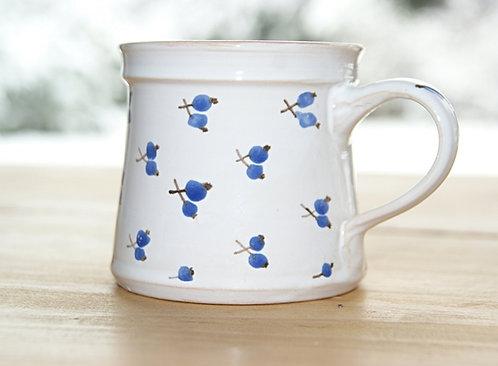 """Kubek ceramiczny BIAŁY """"Niebieska Jagoda"""""""