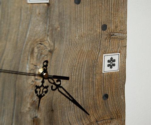 ZEGAR - haft zachełmiański - ptaszek / kwiatek