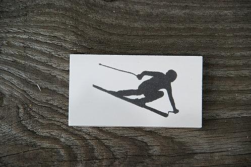 NARTY ZJAZD / SPORTY ZIMOWE - płytka ceramiczna 7,2 x 3,8 cm