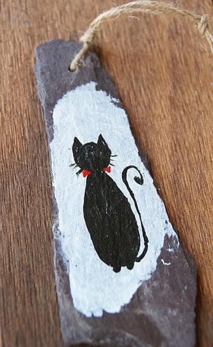 Malowany kot na łupku