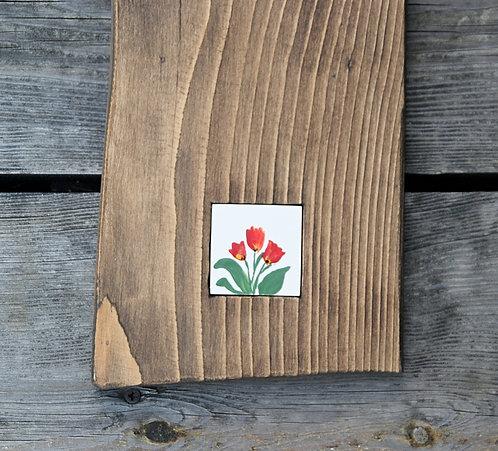 TULIPANY - podstawka drewniana