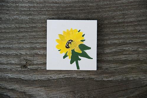 SŁONECZNIK - płytka ceramiczna 4,5 x 4,5 cm