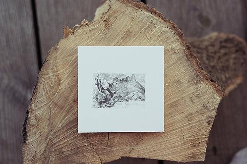 ŚNIEŻKA / DUCH GÓR - płytka ceramiczna 9,7 x 9,7 cm