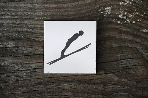 SKOKI / SPORTY ZIMOWE - płytka ceramiczna 4,6 x 4,6 cm
