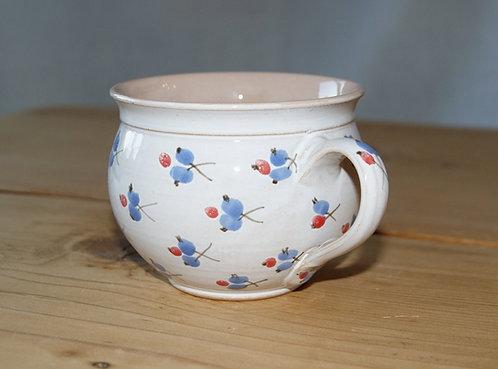 Kubek ceramiczny BIAŁY - jagódki