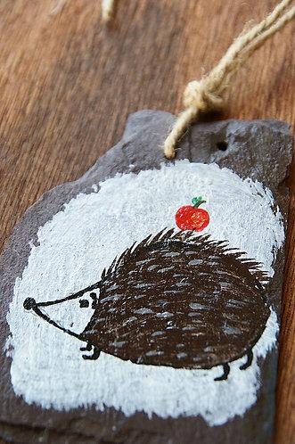 Malowany jeżyk na łupku