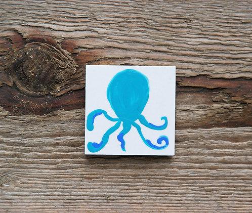 OŚMIORNICA (turkus) - płytka ceramiczna 4,6 x 4,6