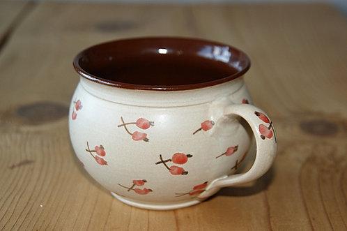 Kubek ceramiczny BEŻOWY - wzór CZESKI duży