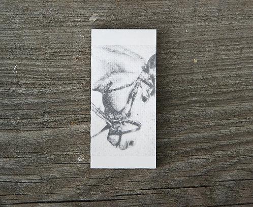 KOŃ (1) GŁOWA - płytka ceramiczna 3,3 x 7,2 cm