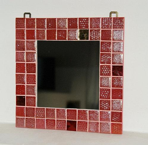 lustro mozaika czerwone 25 x 25 cm