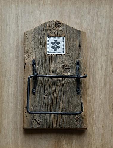 uchwyt na papier toaletowy - haft zachełmiański - KWIATEK