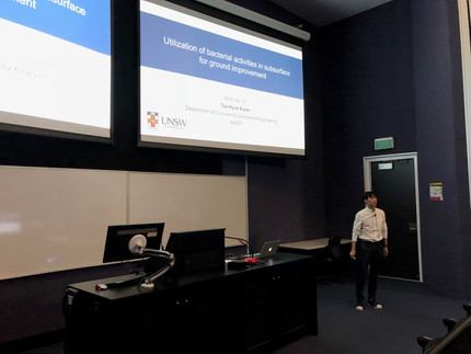 Prof. Tae-Hyuk Kwon's visit to UNSW Canberra