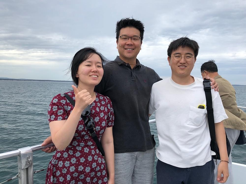 Sojeong, Dr. Chang, and Yeong-Man on board~!