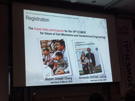 Super baby participant for the 19th ICSMGE !