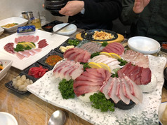 Delicious Korean Yellowtail sashimi
