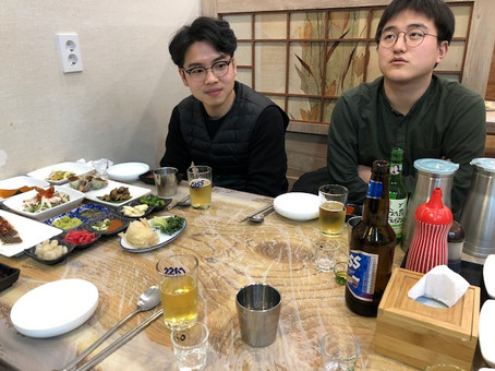 Year-end dinner Minhyung and Yeong-Man