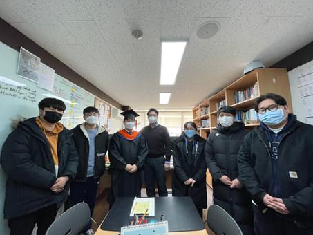 Suhyuk's M.S graduation