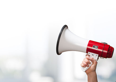 Megaphone attention background advertise