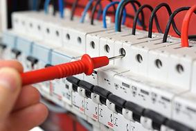 Cablerite's Brisbane electrician testing switchboard example.