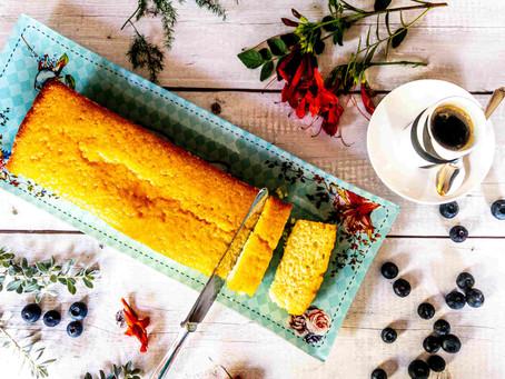 עוגה בחושה סולת,לימון וקוקוס