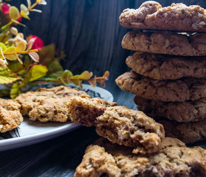 עוגיות שיבולת שועל, וניל ובלי המון חמאה