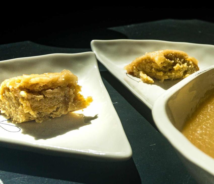 עוגת מייפל וחמאה חומה