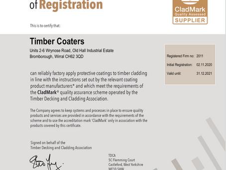 CladMark accredited supplier status