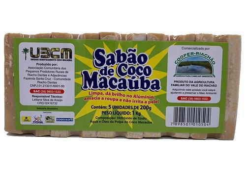 Sabão de Coco Macaúba Claro em Barra 1Kg (5x200g) - COOPER RIACHÃO