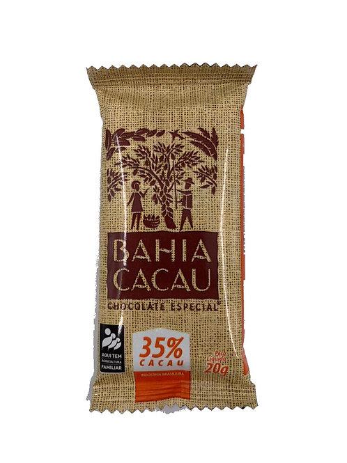 Barrinha de Chocolate 35% 20g - BAHIA CACAU