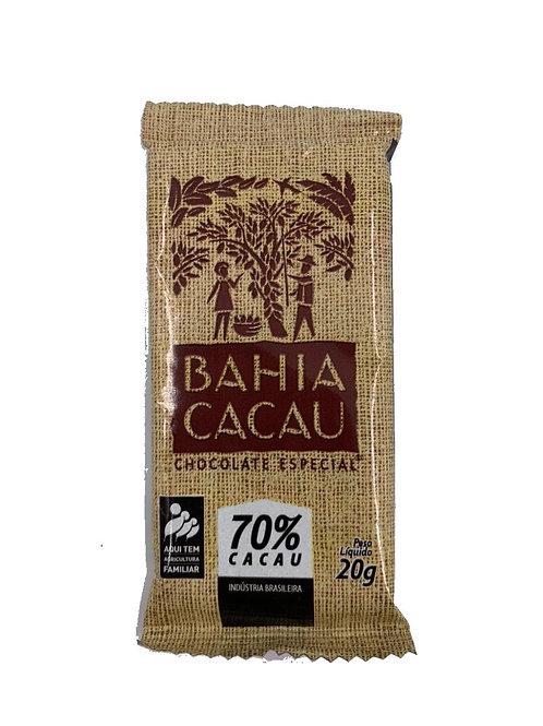 Barrinha de Chocolate 70% 20g - BAHIA CACAU