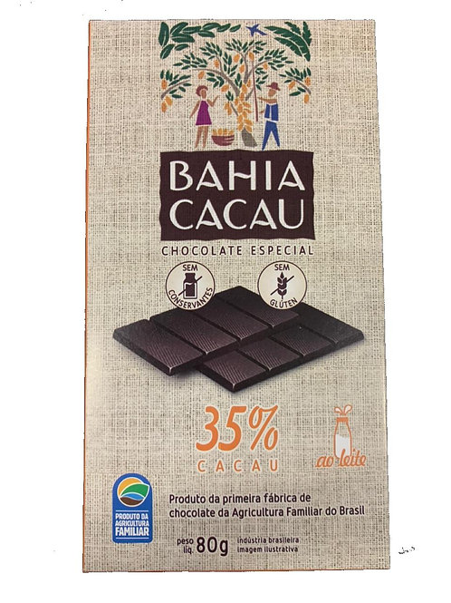 Barra de Chocolate 35% 80g - BAHIA CACAU