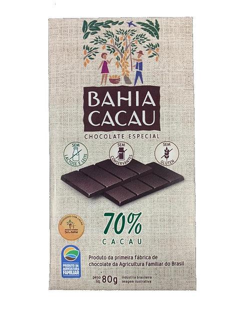 Barra de Chocolate 70% 80g - BAHIA CACAU