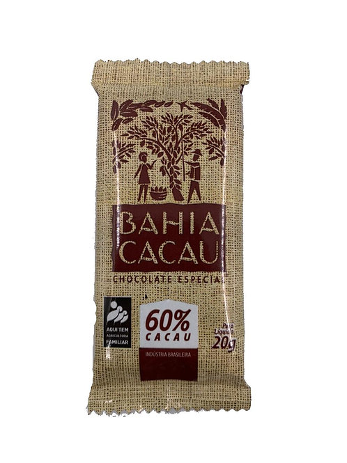 Barrinha de Chocolate 60% 20g - BAHIA CACAU